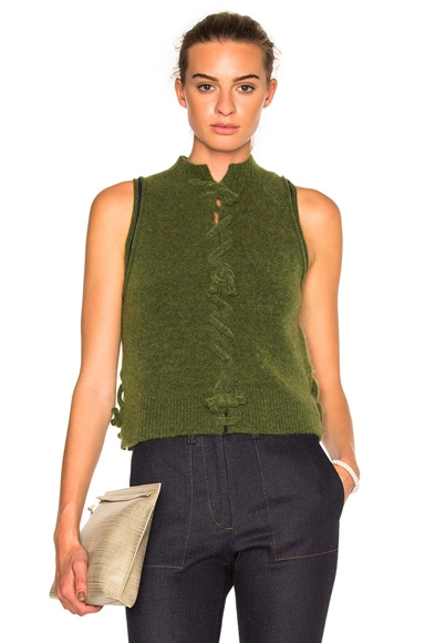 3.1 phillip lim Knot Front Sleeveless Top in Green