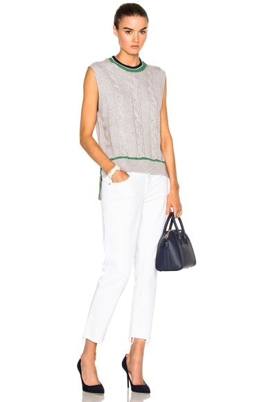 Collegiate Sleeveless Sweater