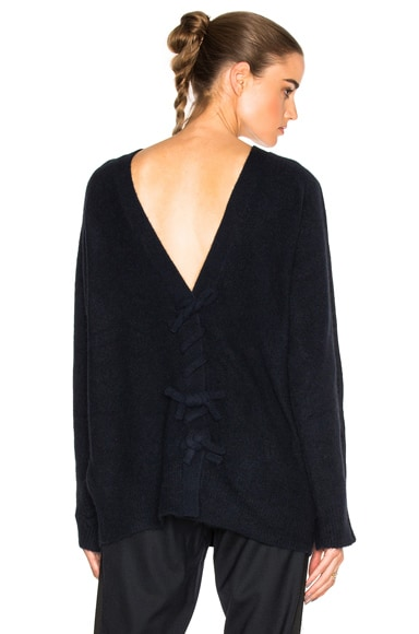 3.1 phillip lim Knot Back Sweater in Dark Navy