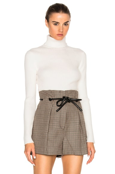 3.1 phillip lim Turtleneck Sweater in Antique White