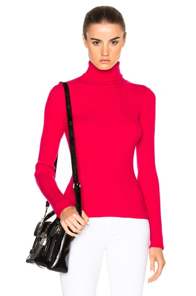 3.1 phillip lim Turtleneck Sweater in Bright Cerise