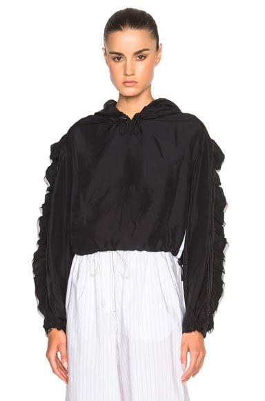 3.1 phillip lim Flare Sleeve Anorak Jacket in Black