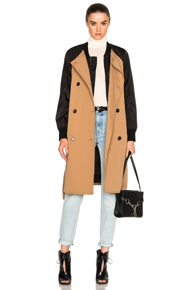 3.1 phillip lim Bomber Trench Coat in Khaki
