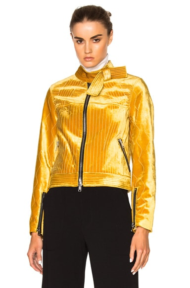 3.1 phillip lim Velvet Moto Jacket in Dark Sulfur