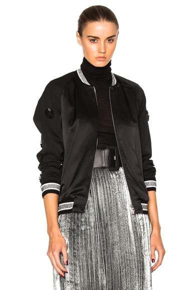 3.1 phillip lim Tux Bomber Jacket in Black
