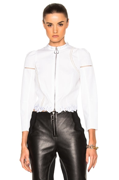 3.1 phillip lim Poplin Victoriana Shirt Jacket in White