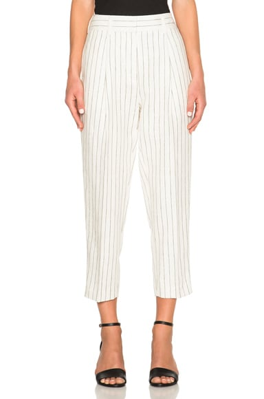 3.1 phillip lim Pinstripe Carrot Pants in Cloud