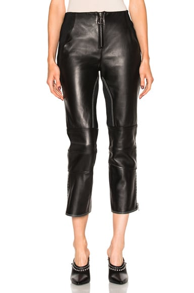 3.1 phillip lim Leather Biker Pant in Black