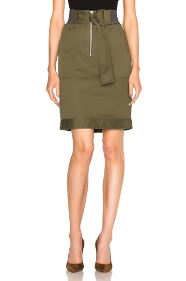 3.1 phillip lim Belted Utility Skirt in Olive