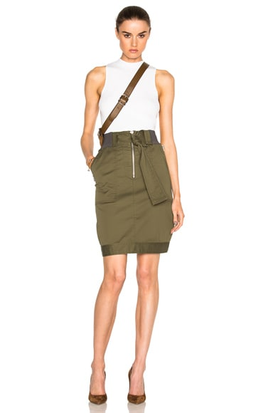 Belted Utility Skirt