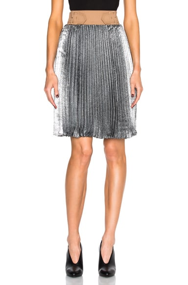 3.1 phillip lim Sunburst Pleated Skirt in Platinum