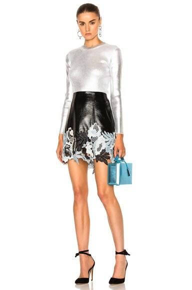 Vinyl Lace Skirt
