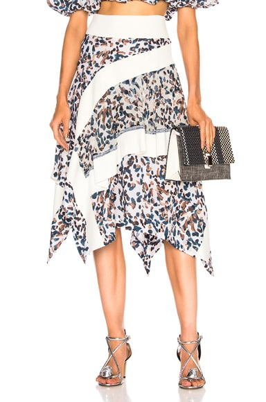 Layered Painted Dot Skirt