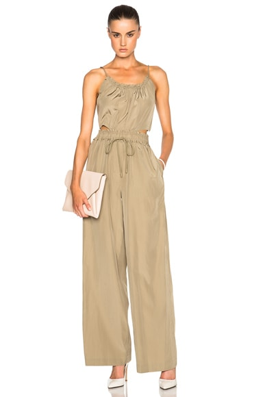 3.1 phillip lim Tank Jumpsuit in Dark Khaki