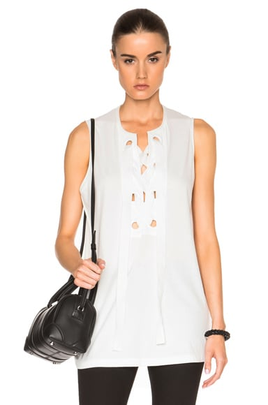 3.1 phillip lim Bohemian Grommet Top in Antique White