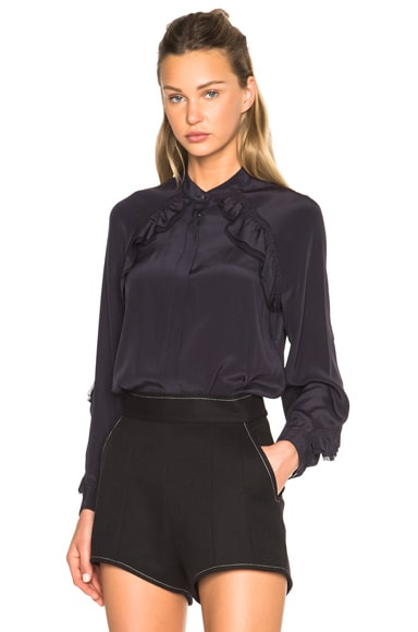 3.1 phillip lim Shirring At Sleeve Top in Ink