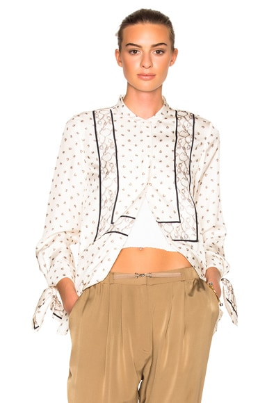 3.1 phillip lim Scarf Printed Top in Ivory