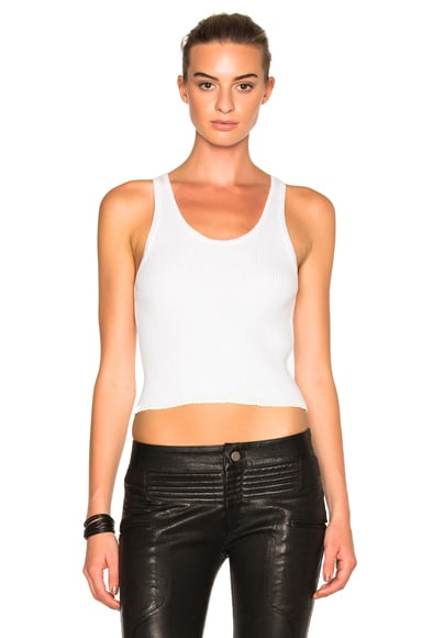 3.1 phillip lim Ruffle Tank Top in White
