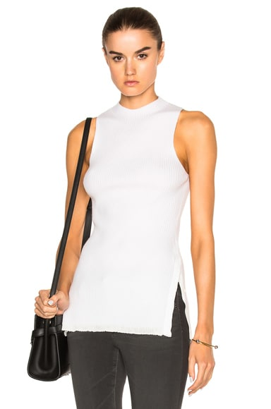 3.1 phillip lim Side Slit Rib Top in White