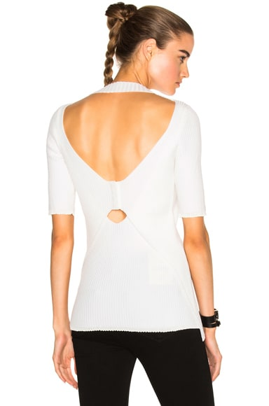 Plaited Exposed Back Top