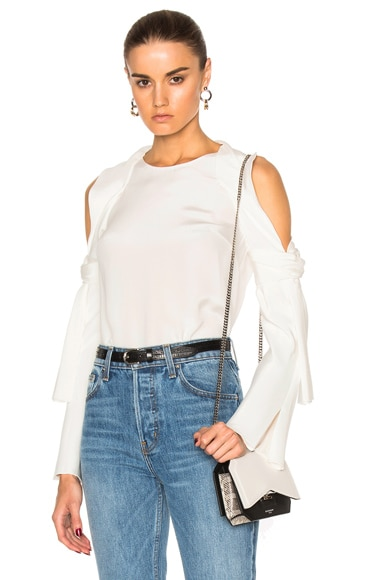 3.1 phillip lim Cold Shoulder Top in Antique White