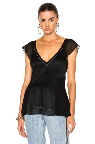 3.1 phillip lim Flutter Top in Black