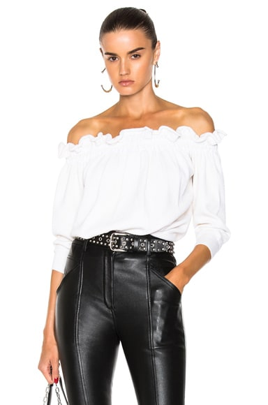 Off Shoulder Ruffle T-Shirt