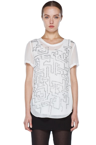 Maze Embroidery Top