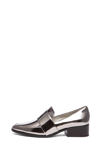 Quinn Metallic Leather Loafers