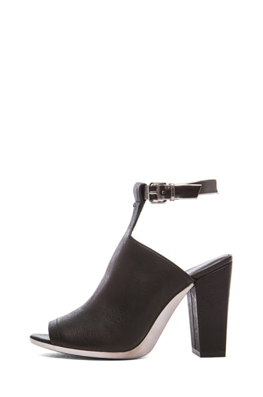 Vincent Leather Ankle Strap Mules