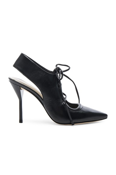 3.1 phillip lim Leather Martini Lace Up Heels in Black