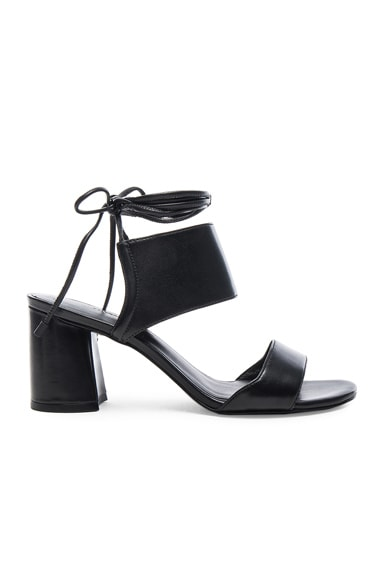 3.1 phillip lim Leather Drum Ankle Lace Sandals in Black