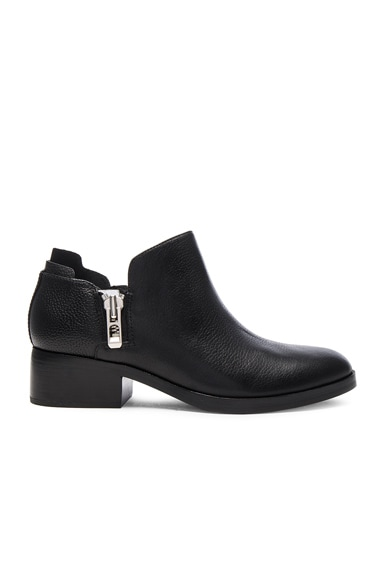 3.1 phillip lim Leather Alexa Ankle Booties in Black