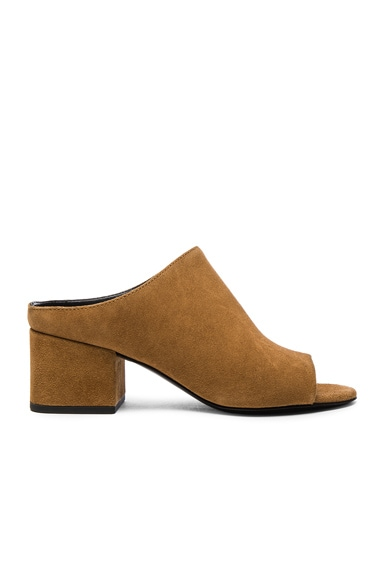 3.1 phillip lim Suede Cube Heels in Oak