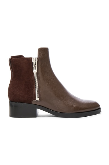 3.1 phillip lim Leather Alexa Boots in Chocolate Espresso