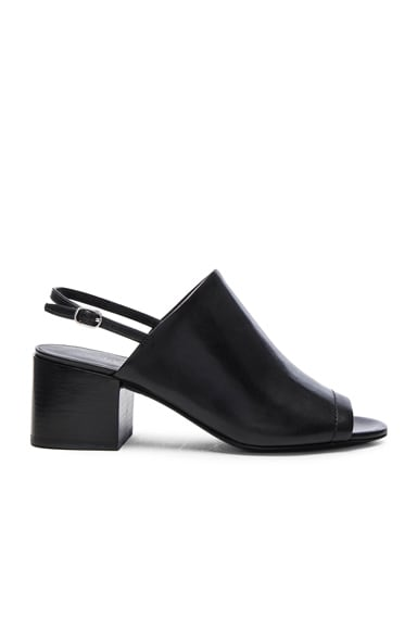 3.1 phillip lim Leather Cube Slingback Heels in Black