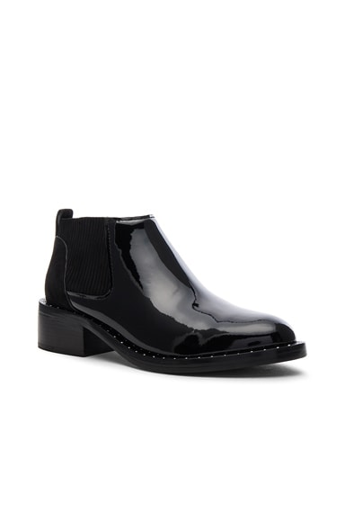 Patent Leather Alexa Studded Welt Booties