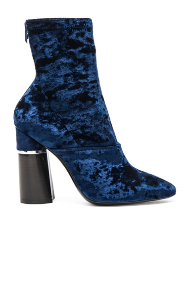 3.1 phillip lim Velvet Kyoto Boots in Royal Blue