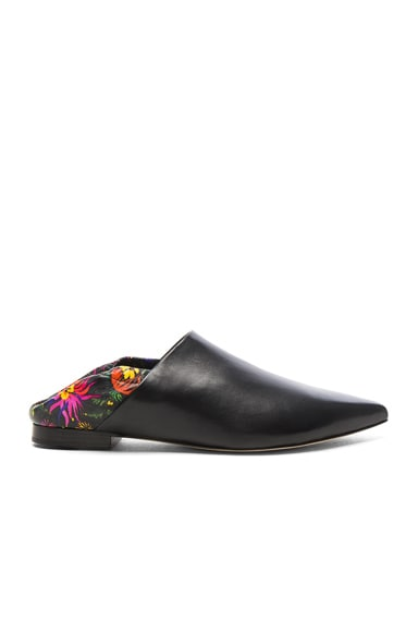 3.1 phillip lim Leather Babouche Slides in Black Multi