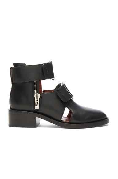 3.1 phillip lim Leather Addis Cut Out Boots in Black