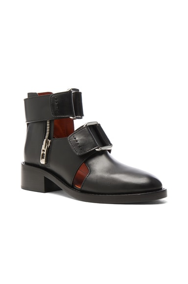 Leather Addis Cut Out Boots