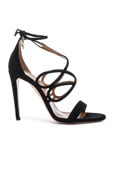 Aquazzura Suede Gigi Heels in Black