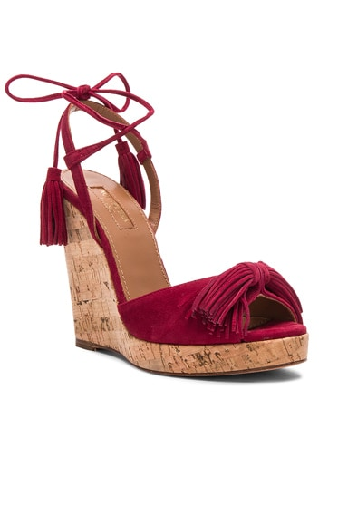 Suede Wild One Espadrille Wedges