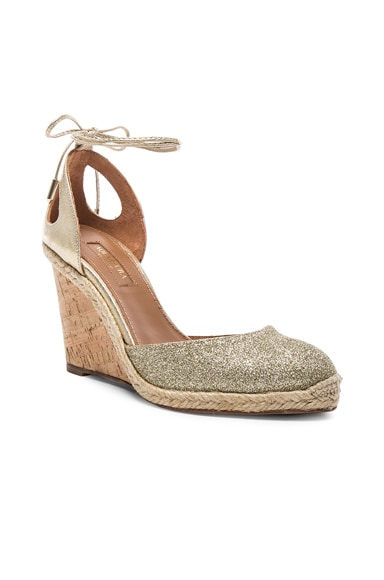 Leather Palm Beach Espadrille Wedges