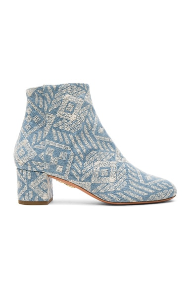 Brooklyn Embroidered Denim Booties