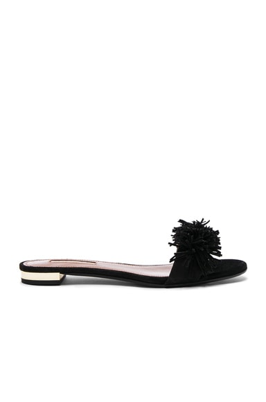 Suede Wild Thing Slide Flats Aquazzura