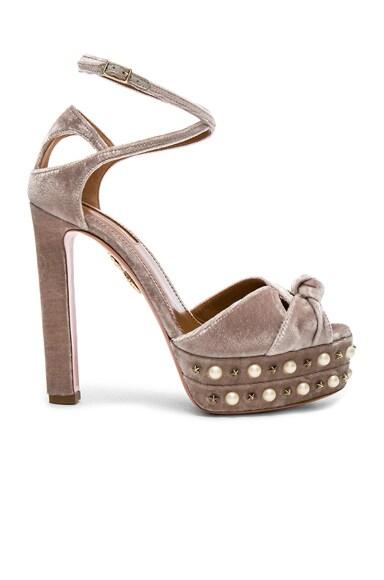 Velvet Harlow Pearls Plateau Heels