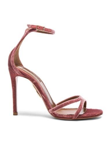 Velvet Purist Sandal Heels