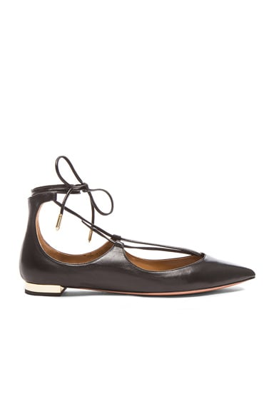 Christy Leather Flats Aquazzura