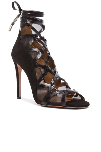French Lover Leather & Suede Heels